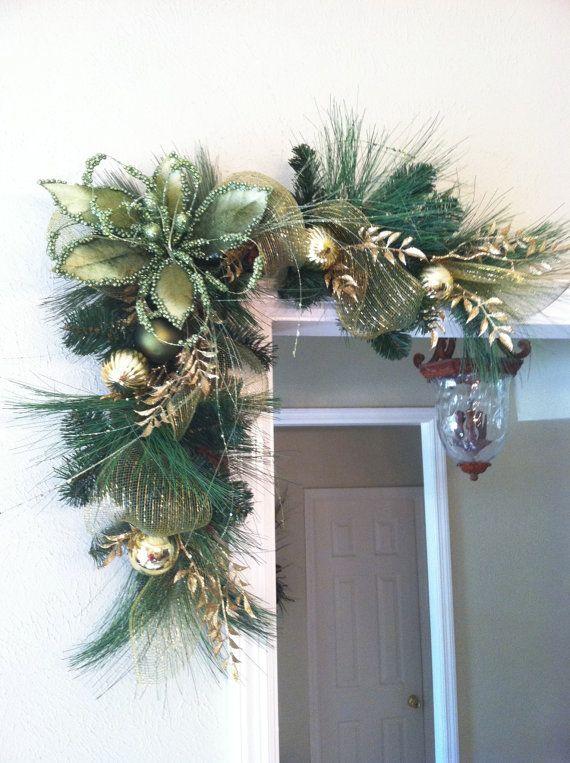 Ideas decorar puerta navidad diy 12 decoracion de for Ideas para adornar puertas de navidad