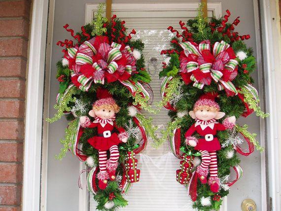 Ideas paso a paso para decorar la puerta para esta navidad diy - Adorno puerta navidad ...