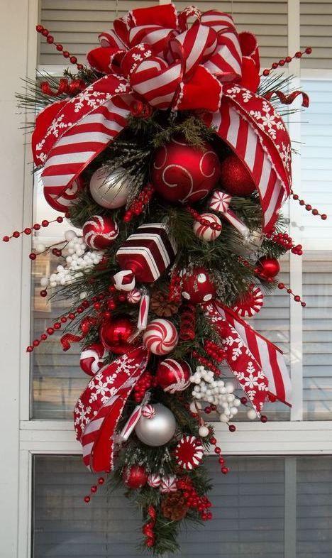 Ideas decorar puerta navidad diy 14 decoracion de - Adorno puerta navidad ...