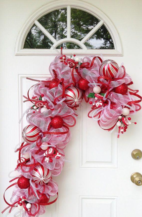 Ideas decorar puerta navidad diy 20 decoracion de for Decoracion en puertas de navidad