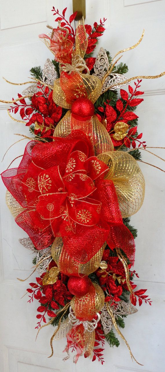 Ideas decorar puerta navidad diy 21 decoracion de - Decorar puertas navidad ...