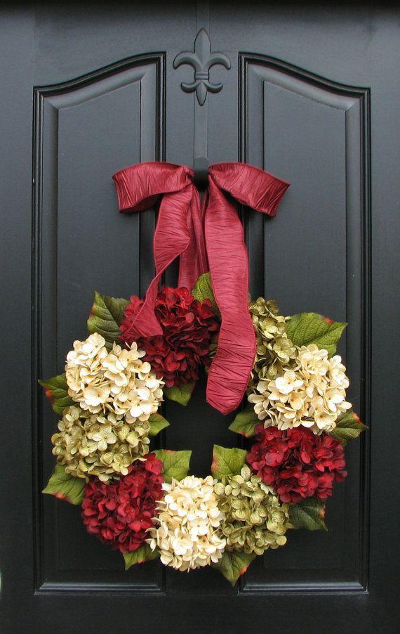 Ideas decorar puerta navidad diy 24 decoracion de for Decoracion en puertas de navidad