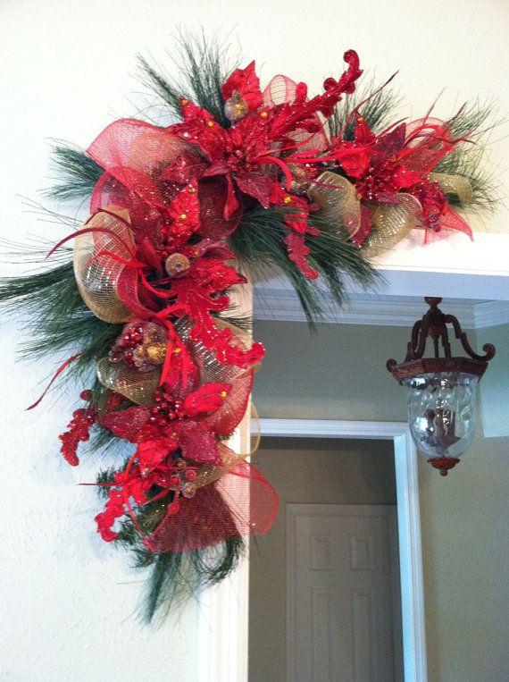Ideas decorar puerta navidad diy 29 decoracion de - Adornos de navidad para las puertas ...