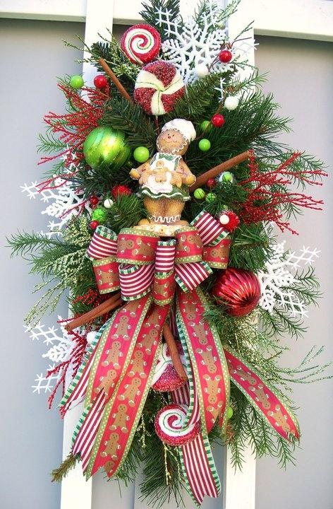 Ideas decorar puerta navidad diy 31 decoracion de for Adornar puertas para navidad