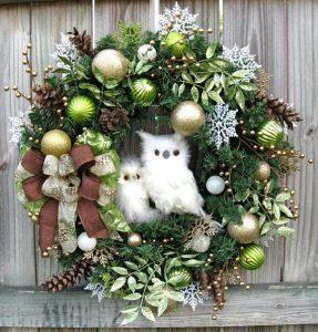 Decoraciones navideñas para la puerta 2018 - 2019