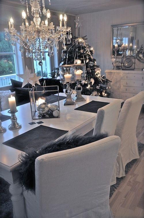 ideas para decoracion de navidad blanco y negro curso de