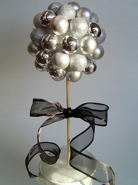 Ideas para decoracion de navidad blanco y negro 15 for Idea deco en blanco y negro