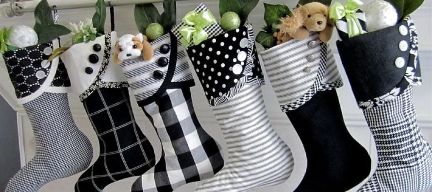 Ideas para decoracion de Navidad Blanco y  Negro