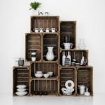 ideas-para-decorar-cocina-con-alacena-hecha-de-cajas-de-madera-rustica