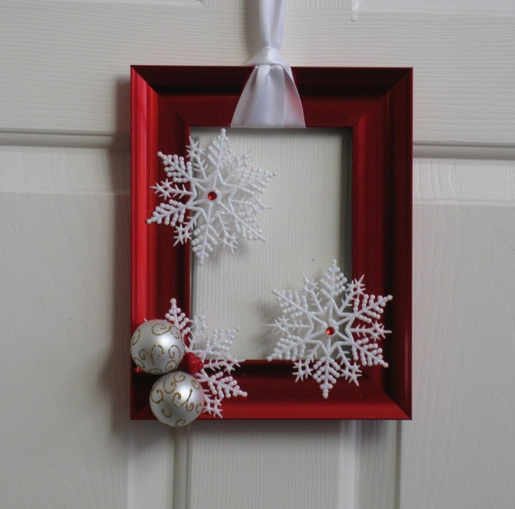 27 ideas para utilizar marcos en decoraciones para esta - Decoracion adornos navidenos ...