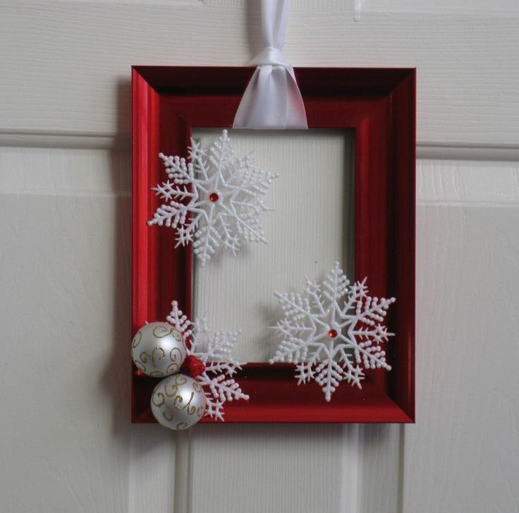 27 ideas para utilizar marcos en decoraciones para esta - Decoracion navidena diy ...