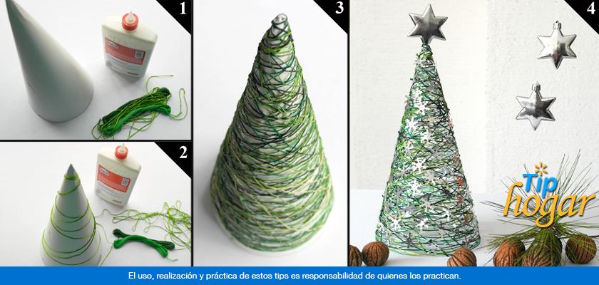 pino de navidad de hilo estambre