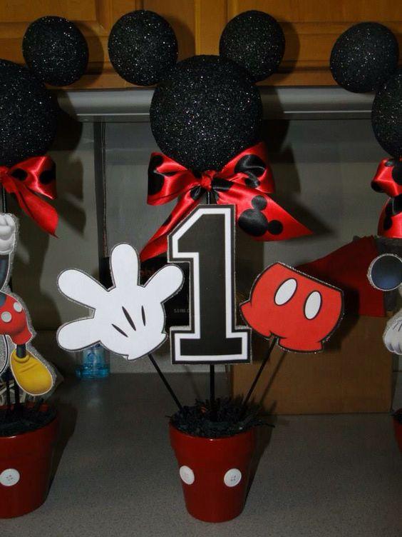 Ideas para fiesta de cumplea os de mickey mouse for Mesa de cumpleanos para adultos