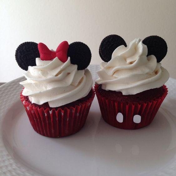 Cupcakes de mickey mouse