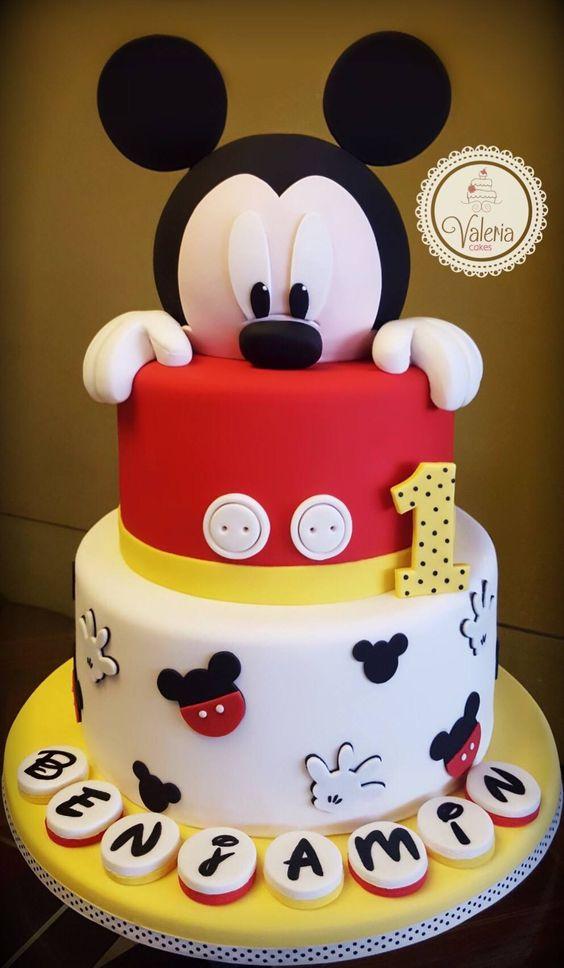 Diseños de pasteles de Mickey mouse de dos pisos