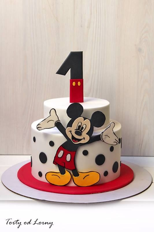 Diseños de pasteles de Mickey mouse de fondant