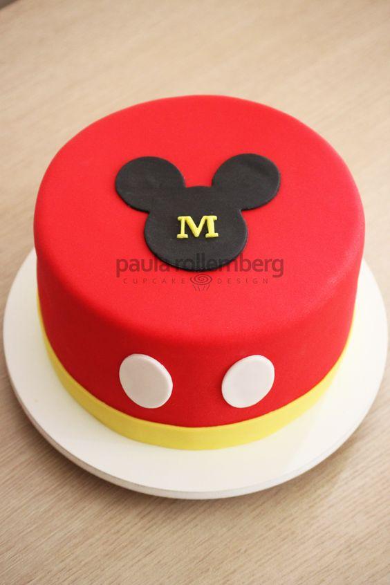 Diseños de pasteles de Mickey mouse de un piso