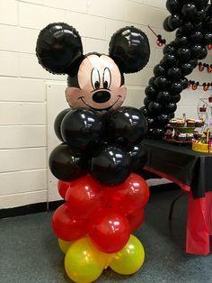 Decoracion Con Globos Para Fiesta De Mickey Mouse 1 Como