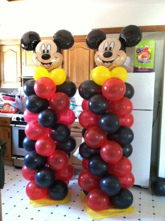 Decoracion con globos para fiesta de mickey mouse (3)