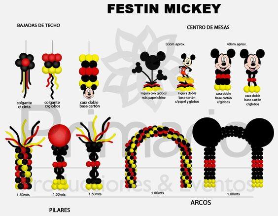 Decoracion con globos para fiesta de mickey mouse (5)