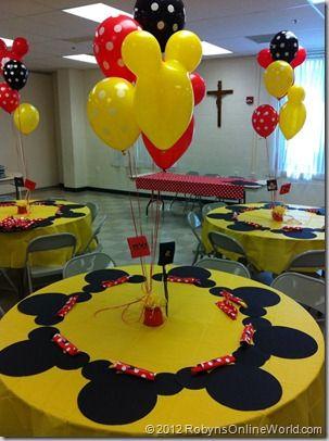 Decoracion con globos para fiesta de mickey mouse (6)
