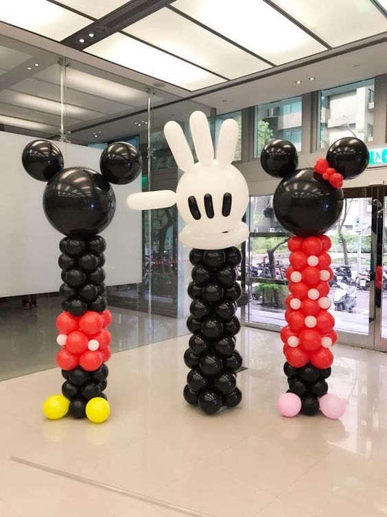 Decoracion con globos para fiesta de mickey mouse 7 - Decoracion para fiestas infantiles mickey mouse ...