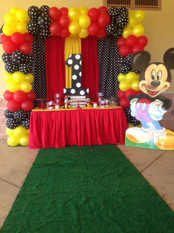 Decoracion de mickey mouse sencilla