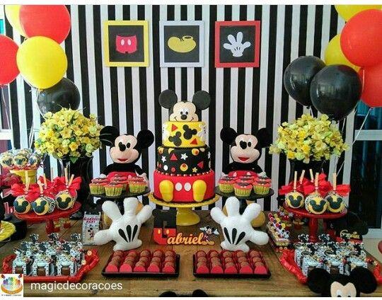 Ideas para fiesta de cumplea os de mickey mouse for Mesa de cumpleanos de mickey