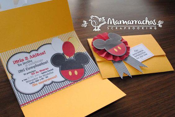 Invitaciones para cumpleaños de Mickey Mouse