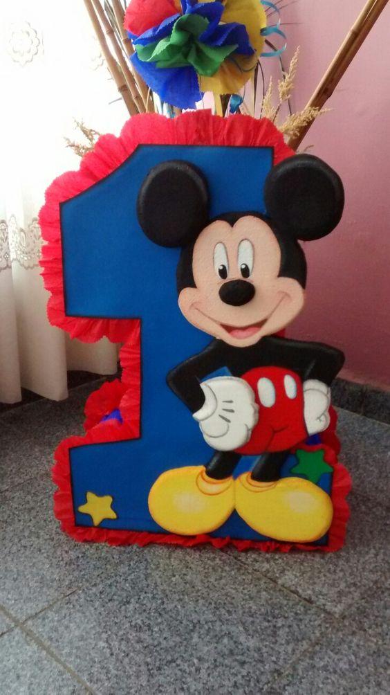 Pinatas para cumpleanos de Mickey Mouse (1)