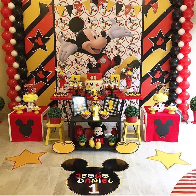 Tendencias de decoracion de fiesta de mickey mouse 2018 2 - Decoraciones de salones de casa ...