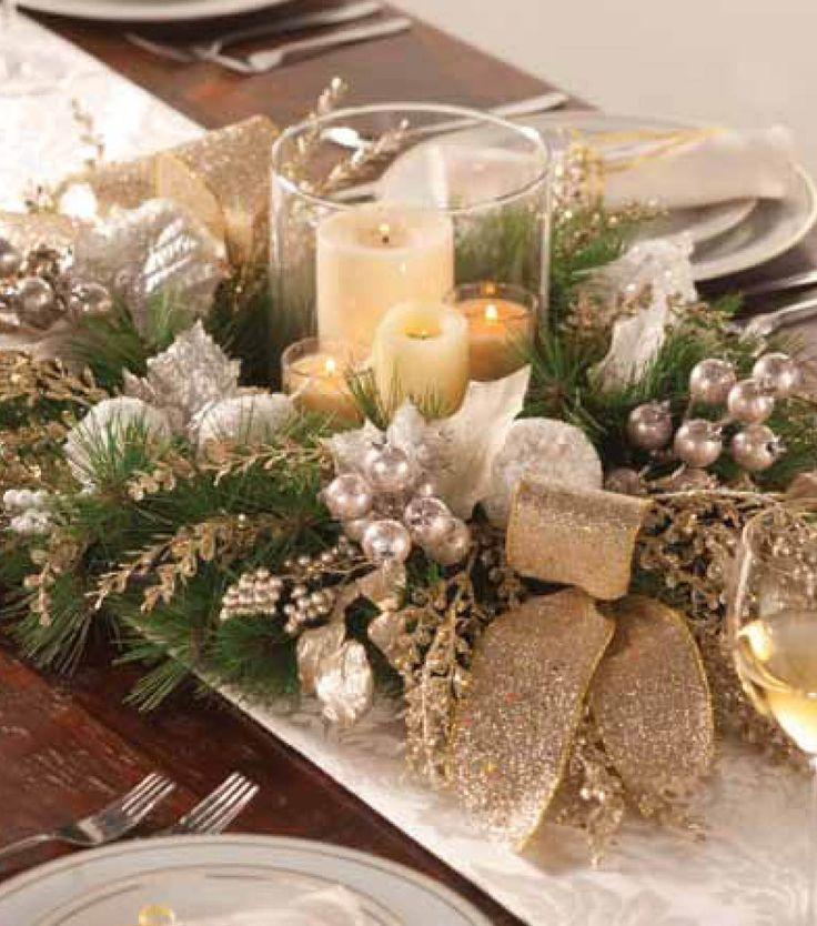 Adornos centro mesa de navidad 24 decoracion de - Adornos navidenos para mesas ...