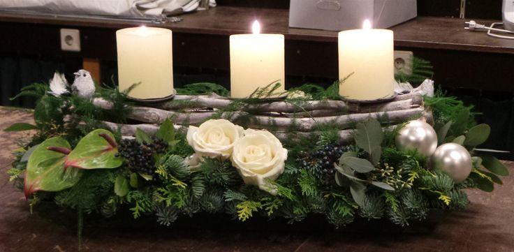Adornos centro mesa de navidad 3 decoracion de - Adornos navidenos de mesa ...
