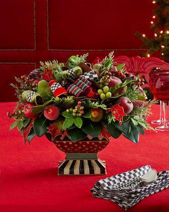 Adornos centro mesa de navidad 35 Mesas para navidad casa
