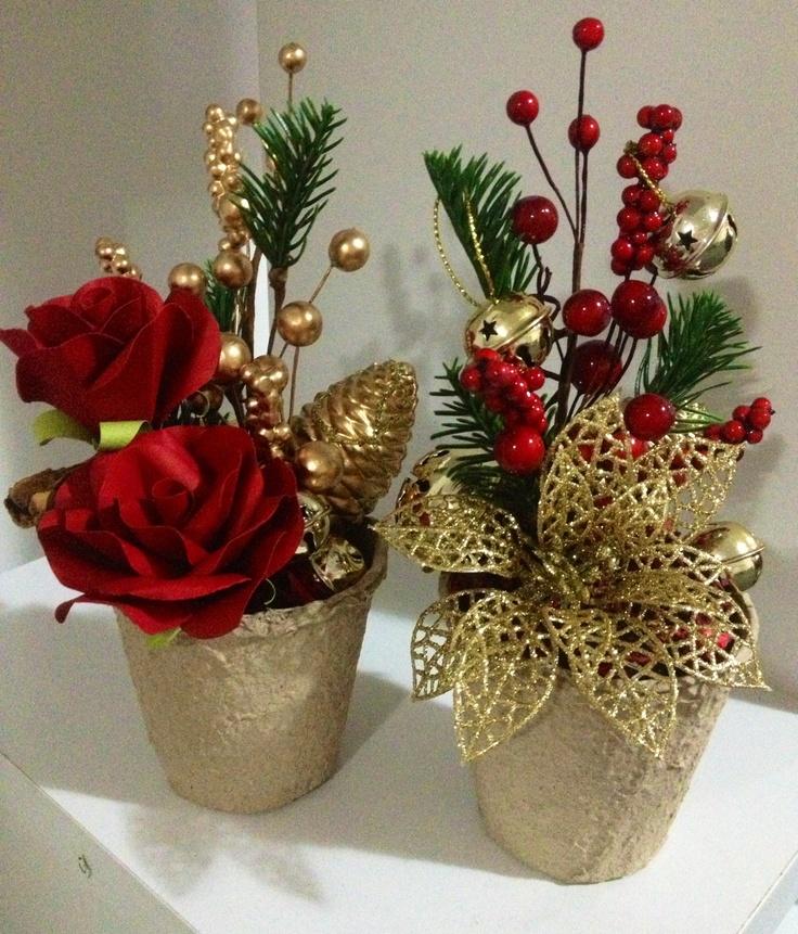 Adornos centro mesa de navidad 38 decoracion de - Decoracion adornos navidenos ...