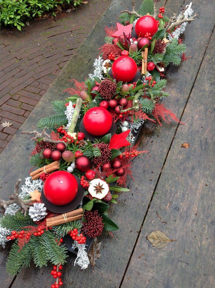 Adornos centro mesa de navidad 4 decoracion de - Adornos navidenos para mesas ...