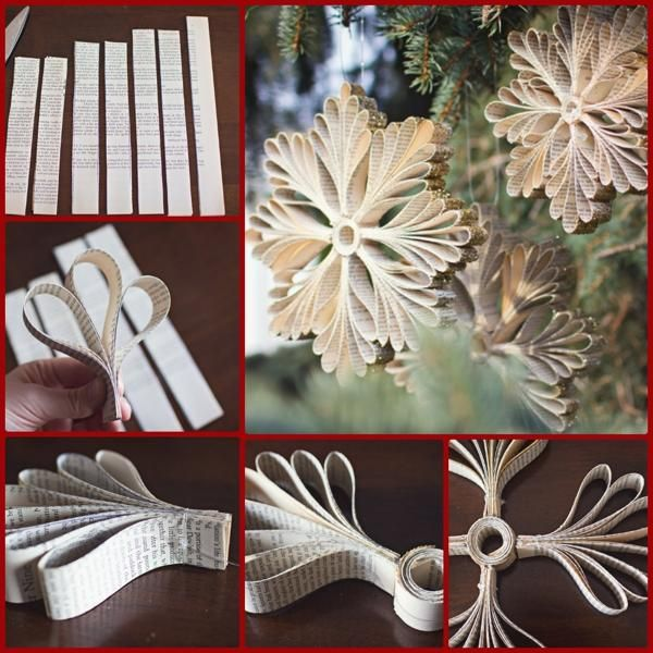 Adornos navide os diy - Cortinas de papel para navidad ...