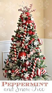 arboles de navidad nevados