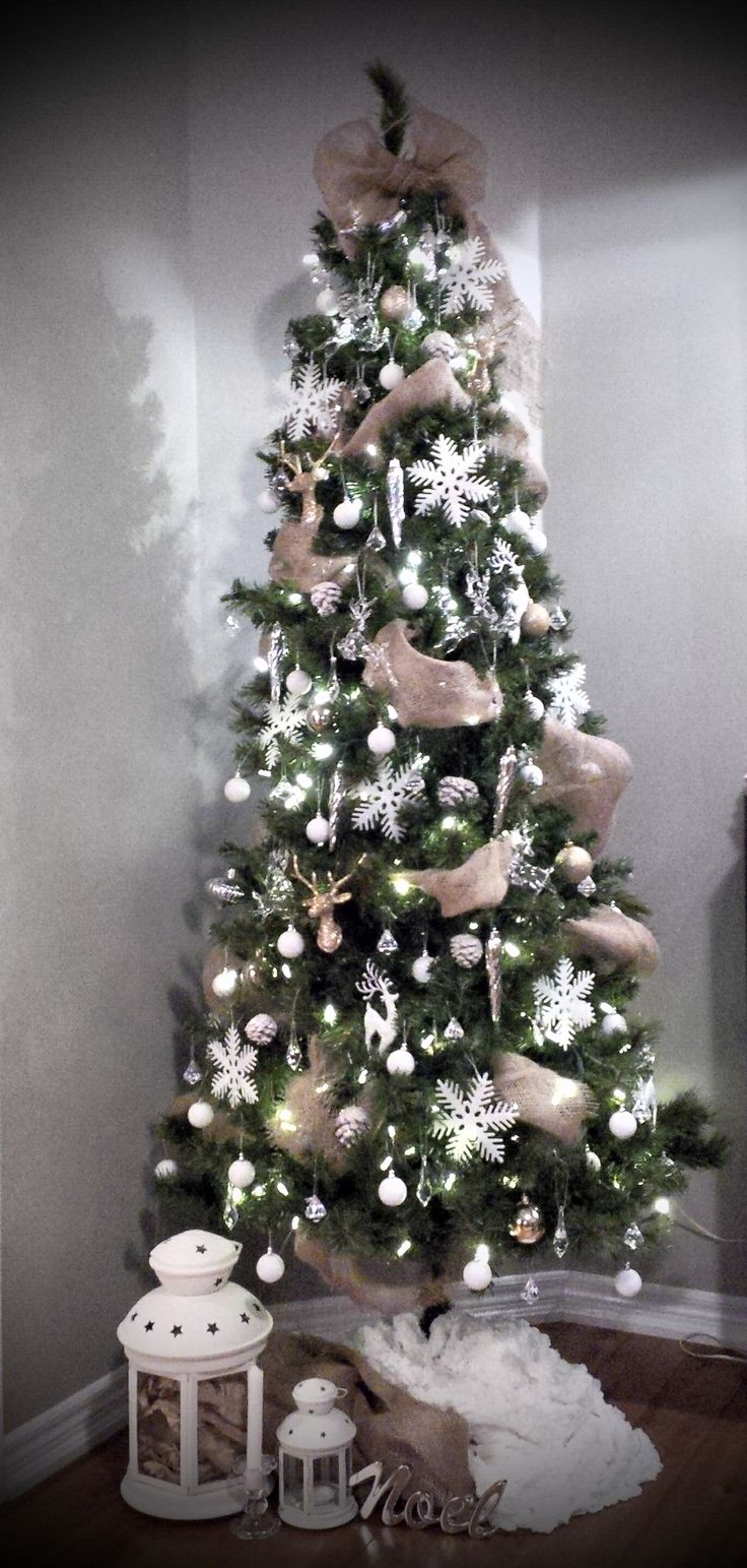 Arboles de navidad nevados 31 curso de organizacion de - Decoracion arboles navidenos ...