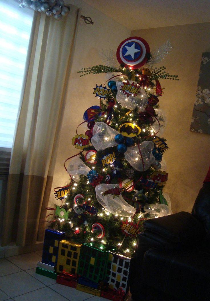 Arbolito de navidad super heroes decoracion de - Arbolito de navidad ...