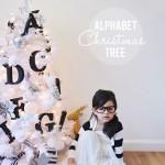 arbolitos de navidad con letras