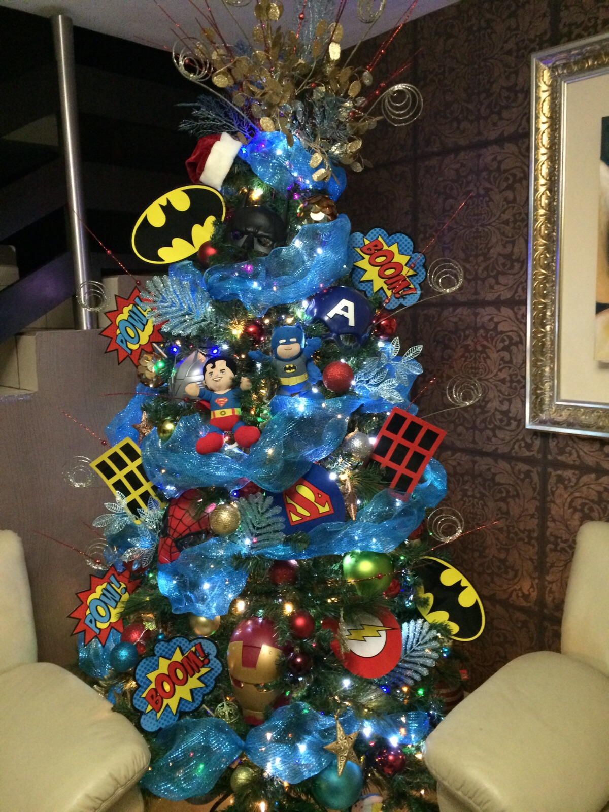 arbolitos de navidad infantil de super heroes batman spiderman superman