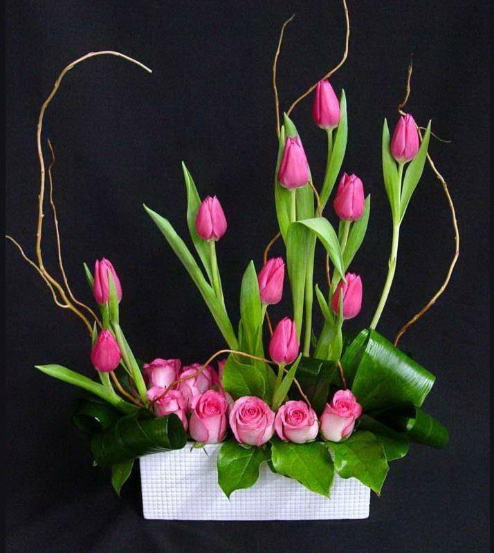 Ideas para centros de mesa modernos arreglos florales - Adornos florales para casa ...