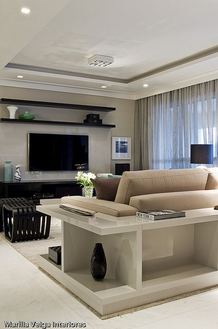 Cuarto sala de television tv 1 como organizar la casa - Television en casa ...