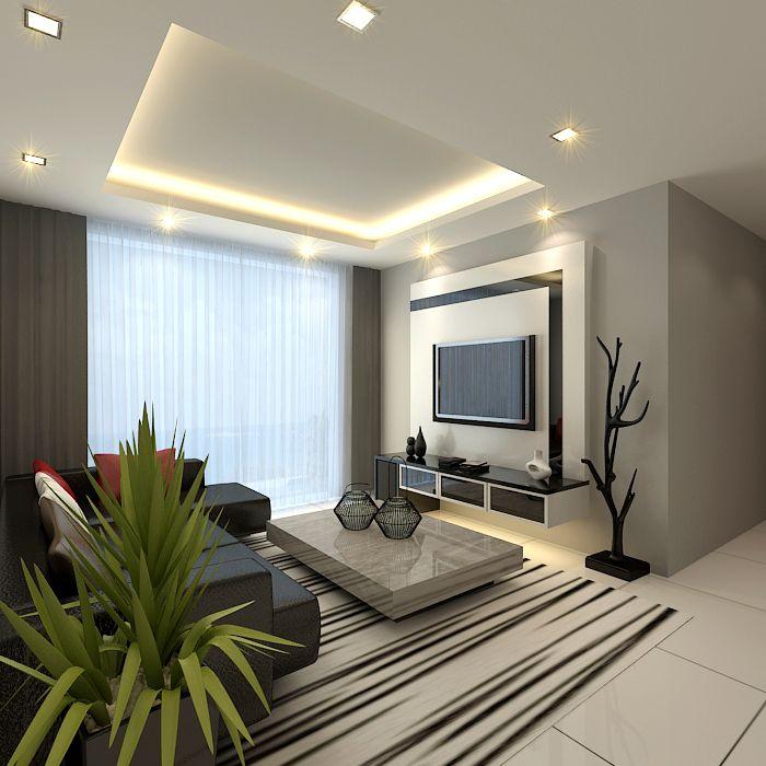 cuarto-sala-de-television-tv (5) | Como Organizar la Casa ...