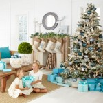 decoracion navidad aul turquesa