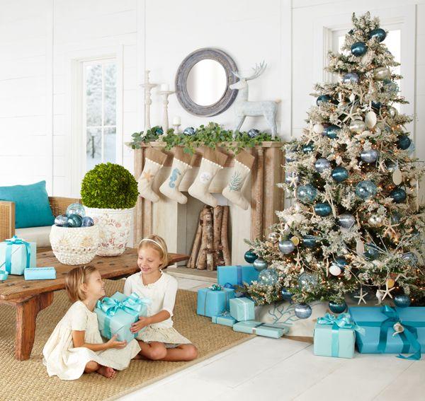 Decoracion de navidad Azul Turqueza