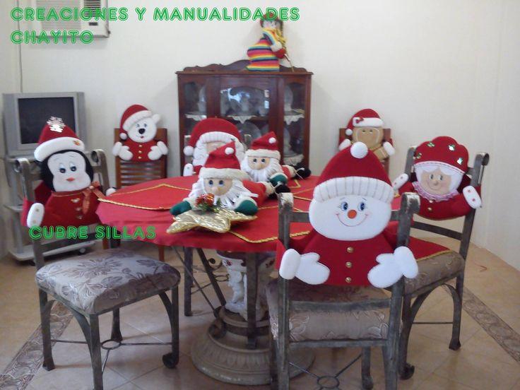 Decoracion sillas navidad 13 decoracion de interiores fachadas para casas como organizar la casa - Ideas decoracion navidad manualidades ...