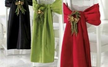 Ideas para Decoracion de Sillas para Navidad