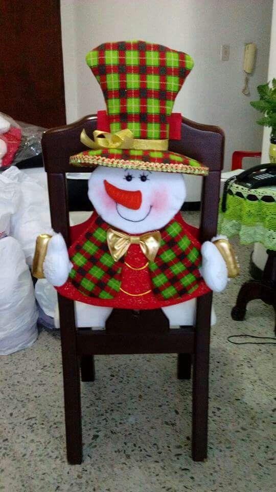 Decoracion sillas navidad 3 decoracion de interiores - Decoracion mesa navidad manualidades ...